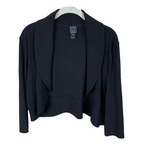 Clara SunWoo Black Cropped Open Jacket Shrug XL